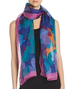 Armani - Abstract Mulberry Silk Oblong Scarf