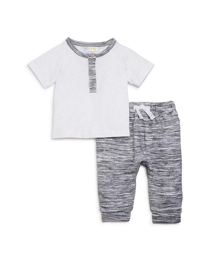 Bloomie's - Boys' Henley Tee & Jogger Pants Set, Baby - 100% Exclusive