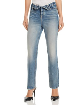 alexanderwang.t - Cult Flip Straight Jeans in Vintage Mid Indigo