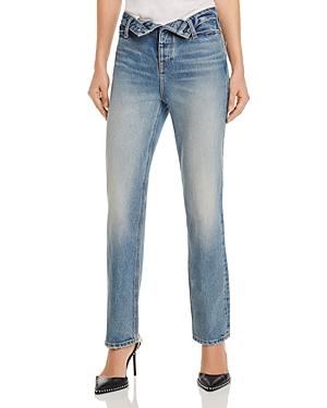 alexanderwang.t Cult Flip Straight Jeans in Vintage Mid Indigo