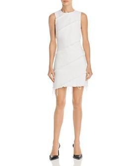 alexanderwang.t - Diagonal Seamed Denim Dress