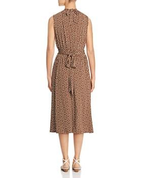 Leota - Sleeveless Dot-Print Dress