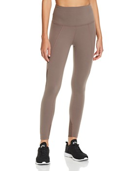 Beyond Yoga - In Line Mesh-Inset Leggings