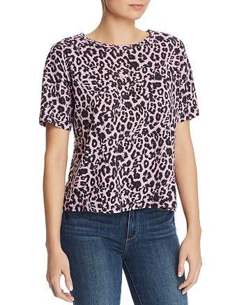 LNA - Leopard-Print Boxy Tee