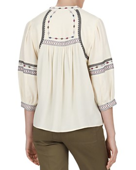 ba&sh - Plume Embroidered Top