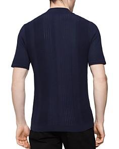 REISS - Rathie Textured Slim Fit Half-Zip Shirt