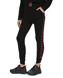 The Kooples - Lace-Up Detail Jogger Pants