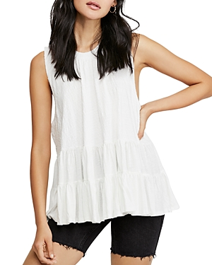 Free People Tops RIGHT ON TIME TIERED-HEM TUNIC