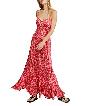 Free People Dresses UNDER THE MOONLIGHT FLORAL MAXI DRESS