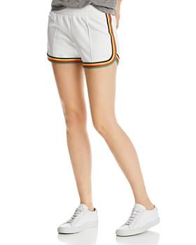 PAM & GELA - Rainbow-Stripe Dolphin Shorts