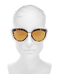 Dior - Women's Dior Offset 2 Mirrored Oversized Round Sunglasses, 57mm