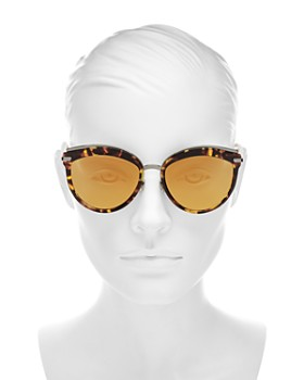 Dior - Women's Dior Offset 2 Mirrored Oversized Round Sunglasses, 57mm