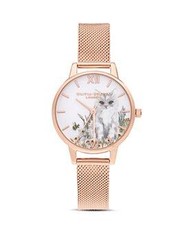 Olivia Burton - Kitten & Floral Motif Watch, 30mm
