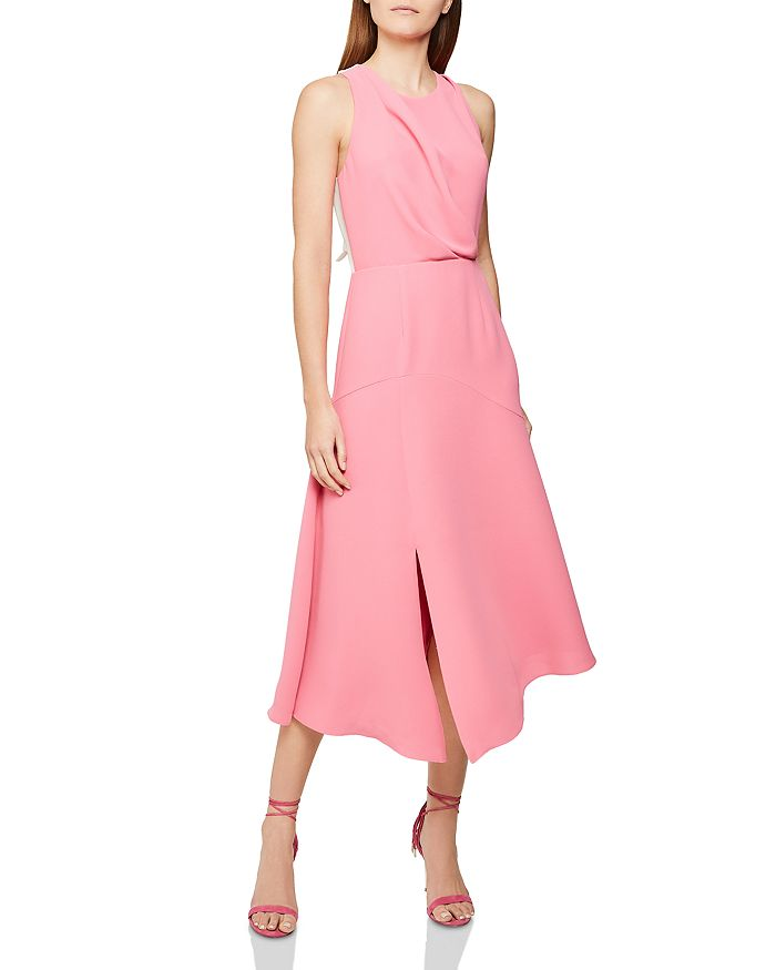 REISS - Cheyenne Back-Cutout Midi Dress