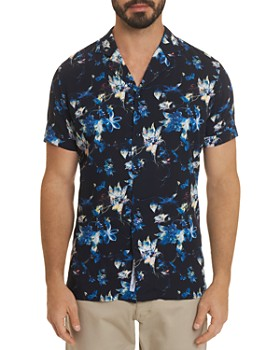 Robert Graham - Gain Floral-Print Short-Sleeve Classic Fit Shirt - 100% Exclusive