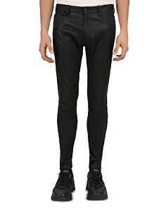 The Kooples - Leather Trouser Skinny Fit Jeans in Black
