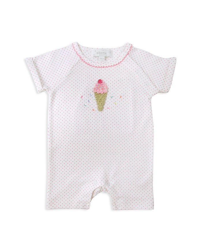 Albetta - Girls' Crochet-Ice-Cream Short Coverall - Baby