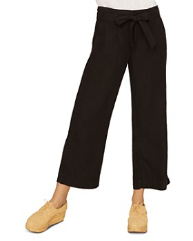 Sanctuary - Inland Linen Cropped Wide-Leg Pants
