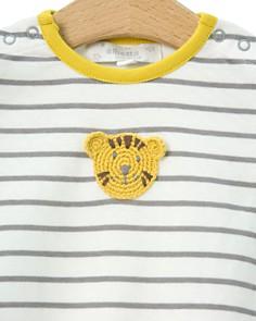 Albetta - Boys' Crochet-Tiger Striped Coverall - Baby