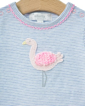 Albetta - Girls' Crochet-Flamingo Coverall - Baby