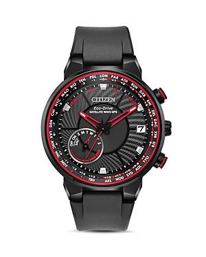 Satellite Wave World Time Black Gps Watch