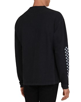 The Kooples - Printed Slub Cotton Long-Sleeve Tee