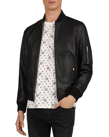 The Kooples - California Leather Bomber Jacket