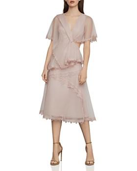 5fac438cbdfc BCBGMAXAZRIA - Capelet Cutout Tulle Dress ...