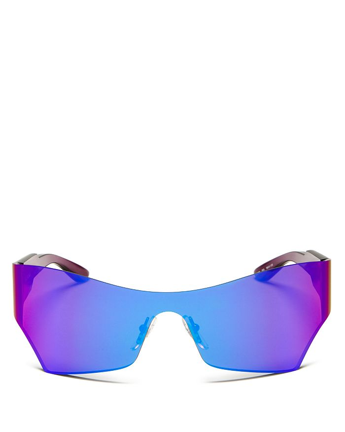 Balenciaga - Women's Mirrored Shield Sunglasses, 99mm