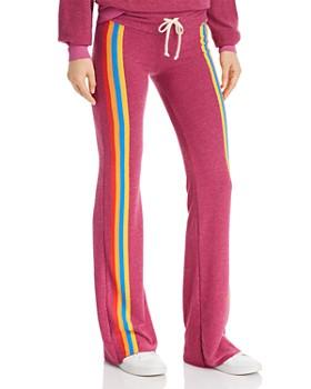 WILDFOX - Tennis Rainbow-Stripe Flared Track Pants