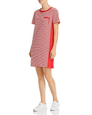 Current Elliott Dresses CURRENT/ELLIOTT THE BEATNICK STRIPED T-SHIRT DRESS