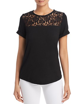 Alison Andrews - Lace Yoke Tee