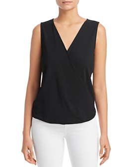 Status by Chenault - Ribbed Wrap-Front Tank