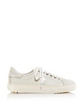 Salvatore Ferragamo - Women's Cube Leather Lace-Up Sneakers