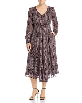 e9a77b1f1 Marina Rinaldi - Duse Devoré V-Neck Dress ...