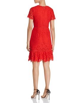 KARL LAGERFELD Paris - Lace Flounce-Hem Dress