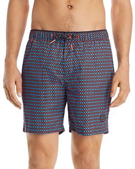 Scotch & Soda - Classic Geometric-Print Swim Shorts