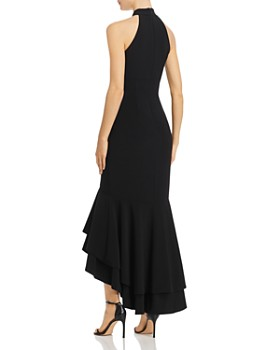 Avery G - Mock-Neck Fishtail Gown