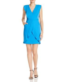 BCBGMAXAZRIA - Flounced Satin Dress