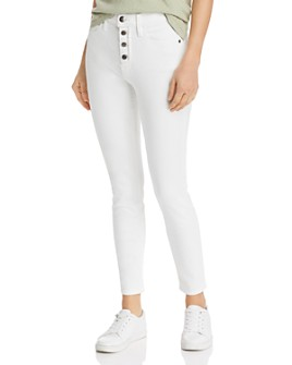FRAME - Le High Skinny Button Fly Jeans in Blanc Street