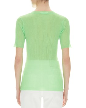 Sandro - Fredy Short-Sleeve Ribbed Sweater