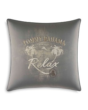 "Tommy Bahama - Raffia Palms Sqaure Pillow, 20"" x 20"""
