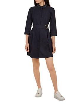 13553e2dfaa Ted Baker - Salat Embellished-Collar Denim Dress ...