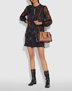COACH - Dreamer Medium Signature Coated Canvas & Leather Shoulder Bag