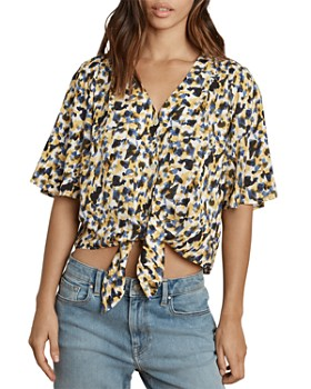 Velvet by Graham & Spencer - Tie-Front Printed Top