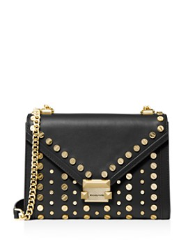 ec85add6370d MICHAEL Michael Kors - Whitney Large Studded Leather Shoulder Bag ...