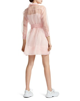 12f744dd478b ... Maje - Revani Organza Mini Shirt Dress