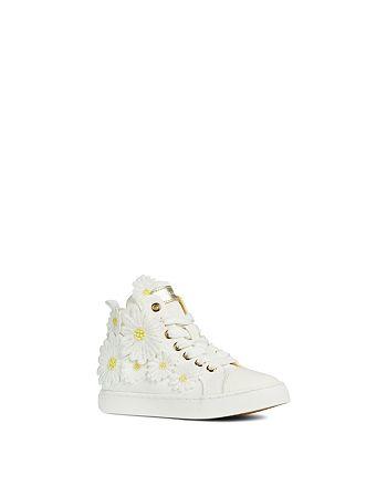 Geox - Girls' Jr. Ciak Flower High-Top Sneakers - Big Kid