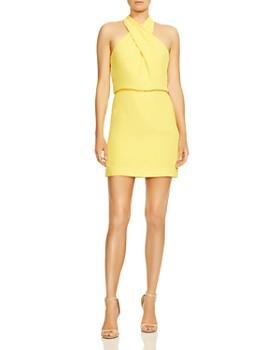 0cf60d39efbf HALSTON HERITAGE - Crepe Mini Dress ...