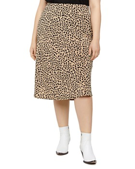 5648720ed Sanctuary Curve - Cheetah-Print Midi Slip Skirt ...